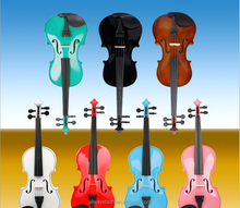 Wholesale high quality cheap price coloured violin