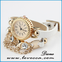 Lady Diamond Dial quartz and pearl Chain Link Bracelet Watch