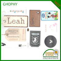 2014 fashion clothing brand paper labels and garment hang tag for Christmas