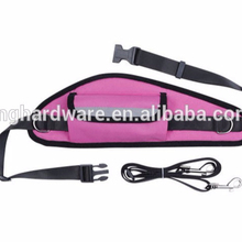 Pink Hands Free Dog Leash with Waist Bag