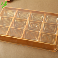 12PCS Golden Blister Plastic Chocolate/Cake Box/Tray, PP Packing Tray