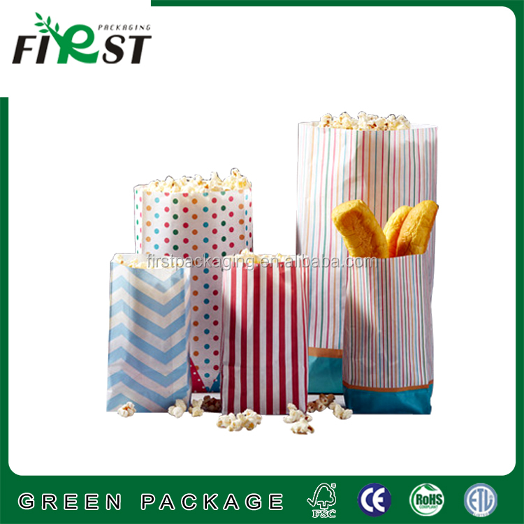Custom Logo Printed Different Sizes Of Paper Popcorn Bags/Custom printing microwave popcorn package/popcorn microwave paper bag