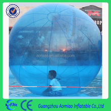 Total blue color 0.8/1.0mmPVC water zorb ball / water bouncing ball / water walking ball for sale