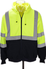ANSI107 class3 reflective hooded sweatshirt with competive price