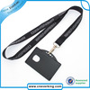 Black Leather Business ID Badge Card Holder Retractable Lanyard Neck Strap Band