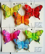 Artificial Feather Butterfly/colorful butterflies for festival decoration