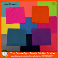 Elastic Band Sport Colorful Plain Dyed Microfiber Fitness-Towel With Bag