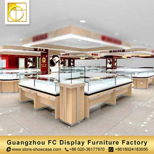 custom modern furniture rotating glass display cabinet jewelry shop interior design showcase jewellery kiosk for sale