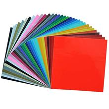 12x12 Inch Assorted Colors Pvc Permanent Backed Adhesive Vinyl Sheets