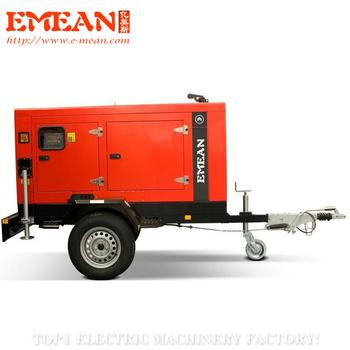 eMobile 100kva Diesel Generator with Trailer price diesel generator 100kva powered