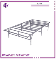 Folding queen size bedroom furniture cheap price metal bed