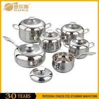 High qualtiy 6PCS stainless steel cookware set for kitchen