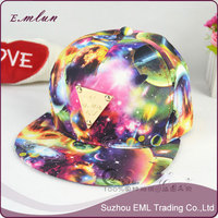 Starry sky fashion pompom baseball hat