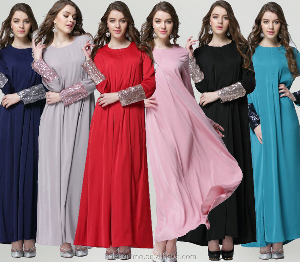 OEM china supplier 2016 muslim dress abaya long sleeve muslimah dress