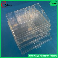 NEW MAKEUP ORGANIZER ACRYLIC 5 TIER DRAWER COSMETIC DISPLAY CASE