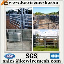 Factory!!!!!!! Kangchen cattle yard panel/iron cattle feeding panel/portable farm equipment fence with 6 rails