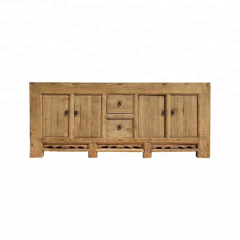 Oriental Chinese Antique Rustic Old Elm Distressed Buffet Furniture