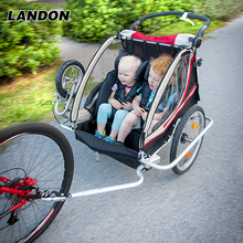 Baby Trailer with safety flag mountain bicycle cart trailer road bicycle double seats buggy foldable bicycle