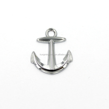 High Quality Men's Polishing Anchor Charms Stainless Steel Jewelry Pendant for Punk Jewelry Designs