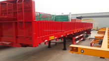 Hot selling trailer truck with 60 cm strong side wall for bulk cargo loading