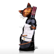 High Quality Cat Style Crafts Decor Home Display Shelf Wine Rack Metal Wine Bottle Holder