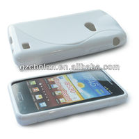 Soft matte s line tpu cover case for samsung galaxy beam i8530