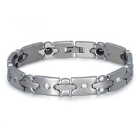 Fashion Classical Stainless Steel Tennis Men Magnetic Bracelet