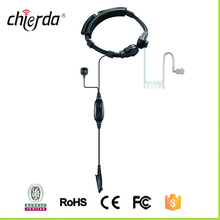 Popular neckband black noise cancelling headset throat mic for walkie talkie