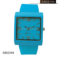 2014 colorful unisex rubber silicone wristband watch