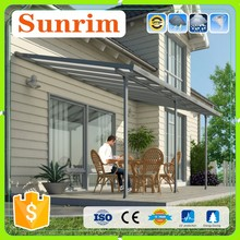 new design aluminum frame profile for sun rain outdoor canopy metal roof