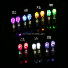 Cheap Led earrings wholesale,party favor free samples daily wear earrings made in China clip on earrings