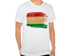 2016 wholesale custom o-neck short sleeve Tajikistan flag t-shirts