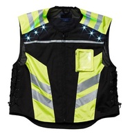 LED Lighted High Visibility Motorcycle Vests