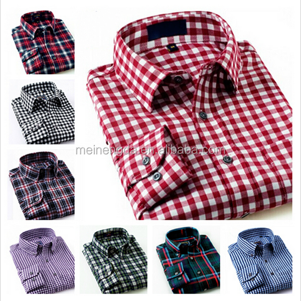 2015 fashionable classic brand high quality 100% cotton check pattern <strong>shirt</strong> for discount selling
