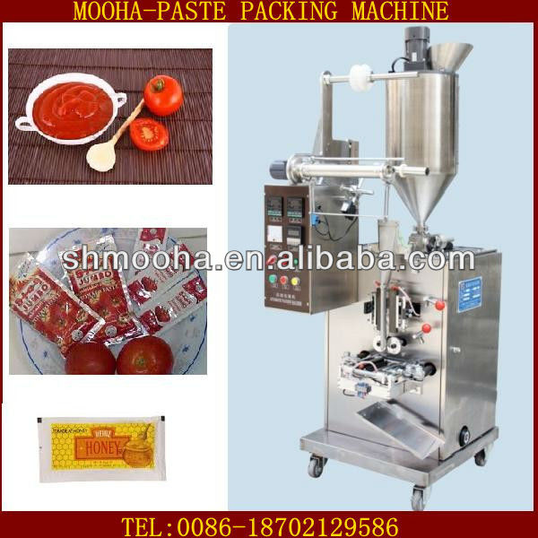 high quality fast speed tomato paste ketchup honey packaging machine(1~150ml,bigger model supplied)