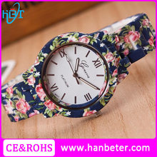 Best watches gift for women japan movt geneva floral watches with stainless steel caseback