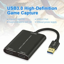 Dual Hdmi to USB 3.0 Video Capture Converter Full HD 1080P Game Collection Card Device Video Audio Capture
