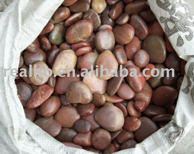 natural red river stone