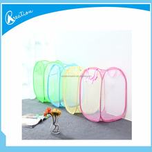 nylon grid net foldable laundry hamper