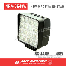 Truck accessories square 48W super bright led working light, led work lamp for all universal cars