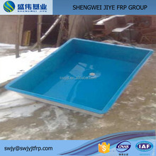 Blue color and customized colors square FRP/GRP fish tank, high quality fiberglass fish tank