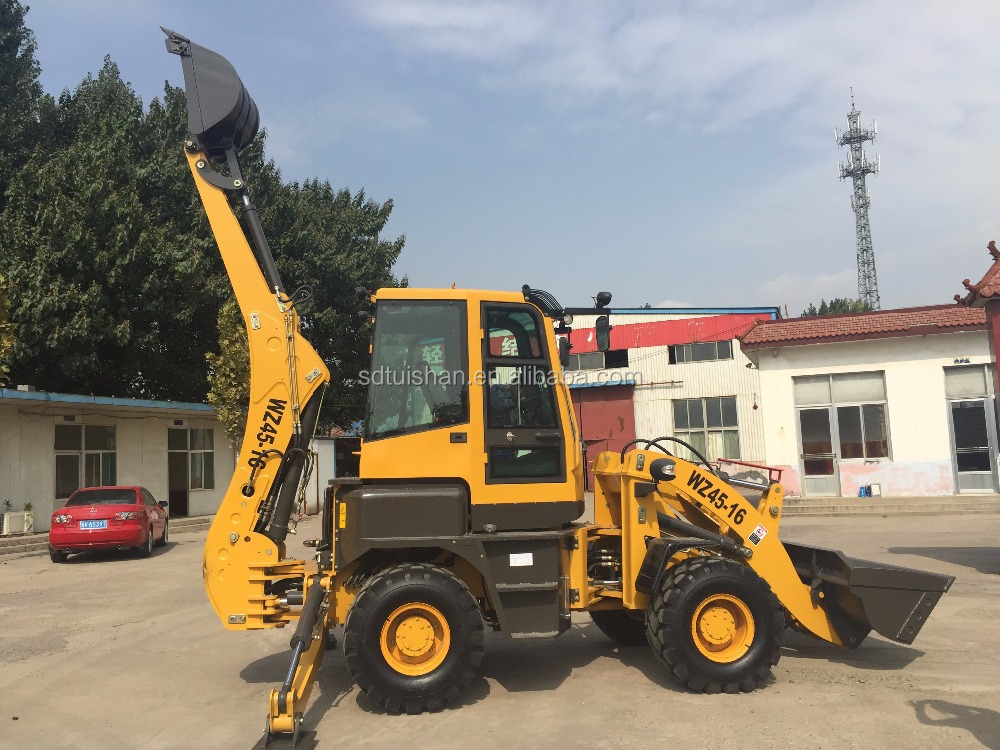 2015 Best Selling!!! cheap <strong>china</strong> backhoe WZ45-16 optional Cummin 4BT3.9-<strong>C100</strong> engine