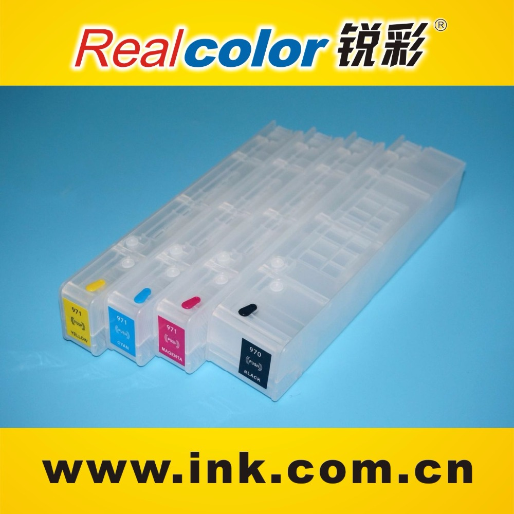 Auto reset chip compatible original ink cartridge for hp 970 971