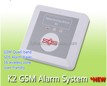 FDL-K2 GSM Auto-dialer,house alarms for independent living,diy home security