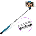 cable shooting stick two parts flexible type wired camera selfie stick monopod