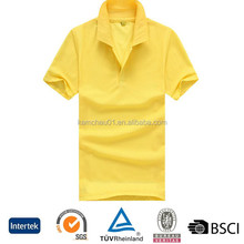 Different Color Sample Available Short Sleeve Polyester Cotton 180G Custom Blan Polo Shirt