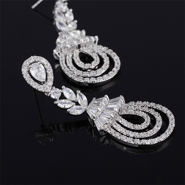 Directly sale different styles everlasting cubic zirconia drop earrings