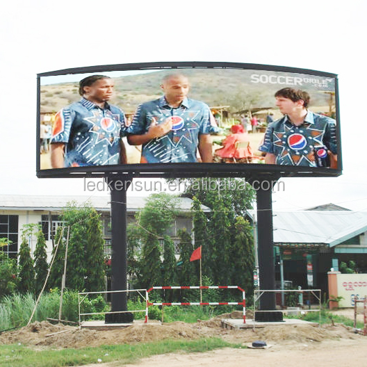 P8 HD Multi-Color outdoor curved led tv display