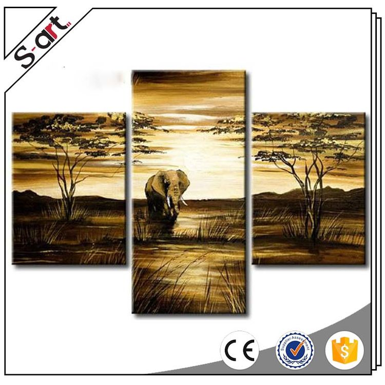 Factory direct competitive oil modern image of animal painting