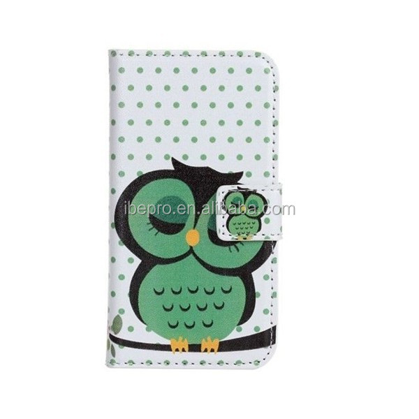 Lovely Cartoon Printed Flip PU Leather Phone Case for Motorola